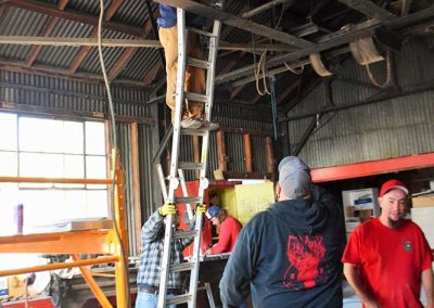 Clampers at work in Machine Shop