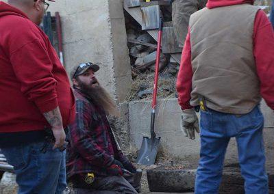 Clampers rebuild stairs
