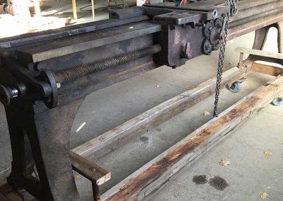 Donated metal turning lathe