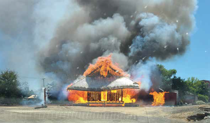 Historic Train Depot Destroyed By Fire