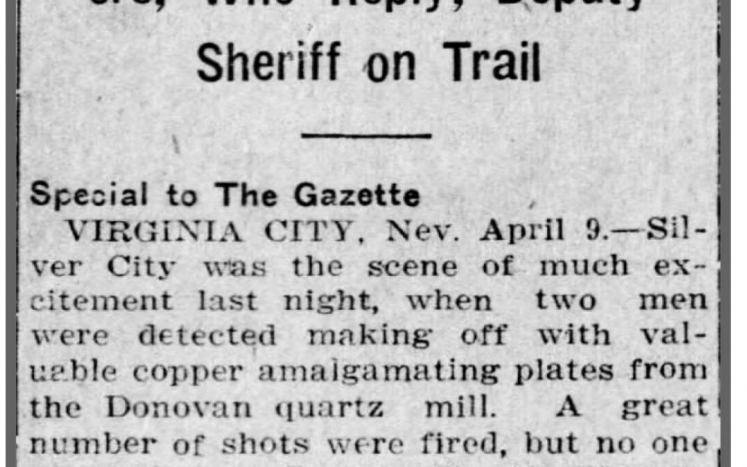 Fun history – News From  1913 Robbery